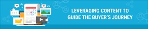 Leveraging content to guide the buyer's journey
